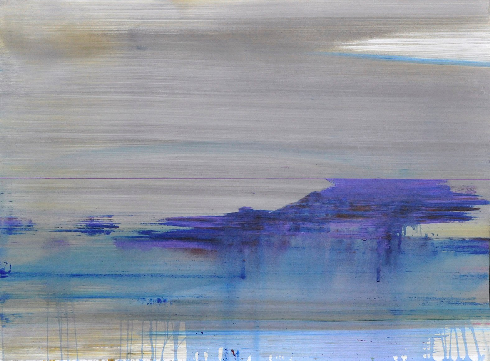 I JUST SIT HERE AND WATCH THE RIVER FLOW _166 x 133 cm_2015