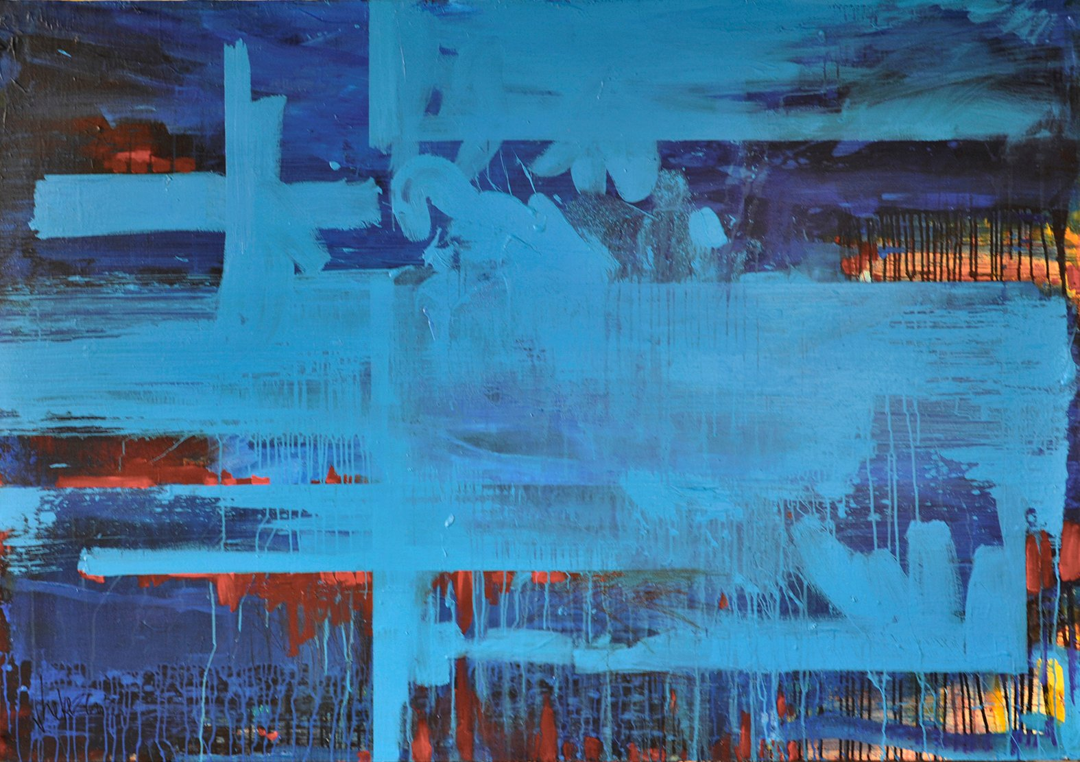 ON THE NIGHTBOAT TO CAIRO #2 – 200 x 134 cm – olie- en acrylverf op do